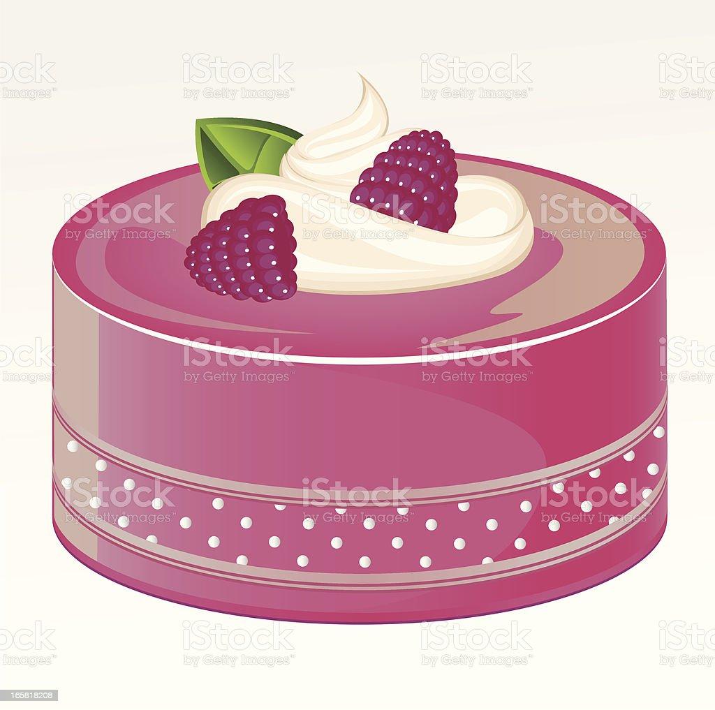 Blackberry Cake vector art illustration