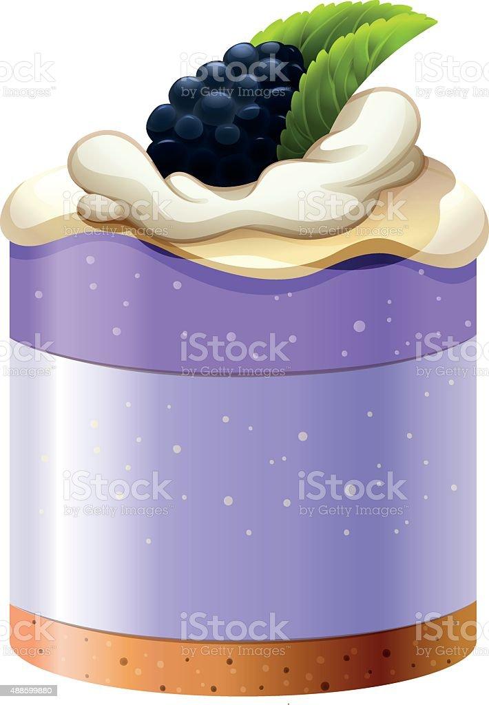 Blackberry cake with crust base vector art illustration