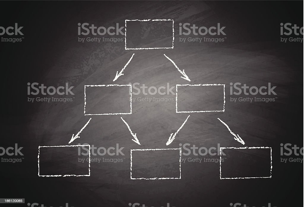 Blackboard and abstract scheme royalty-free stock vector art