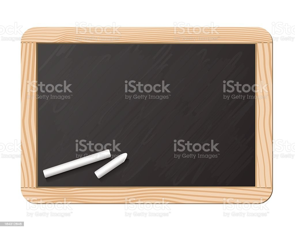 Blackboard and chalk royalty-free stock vector art