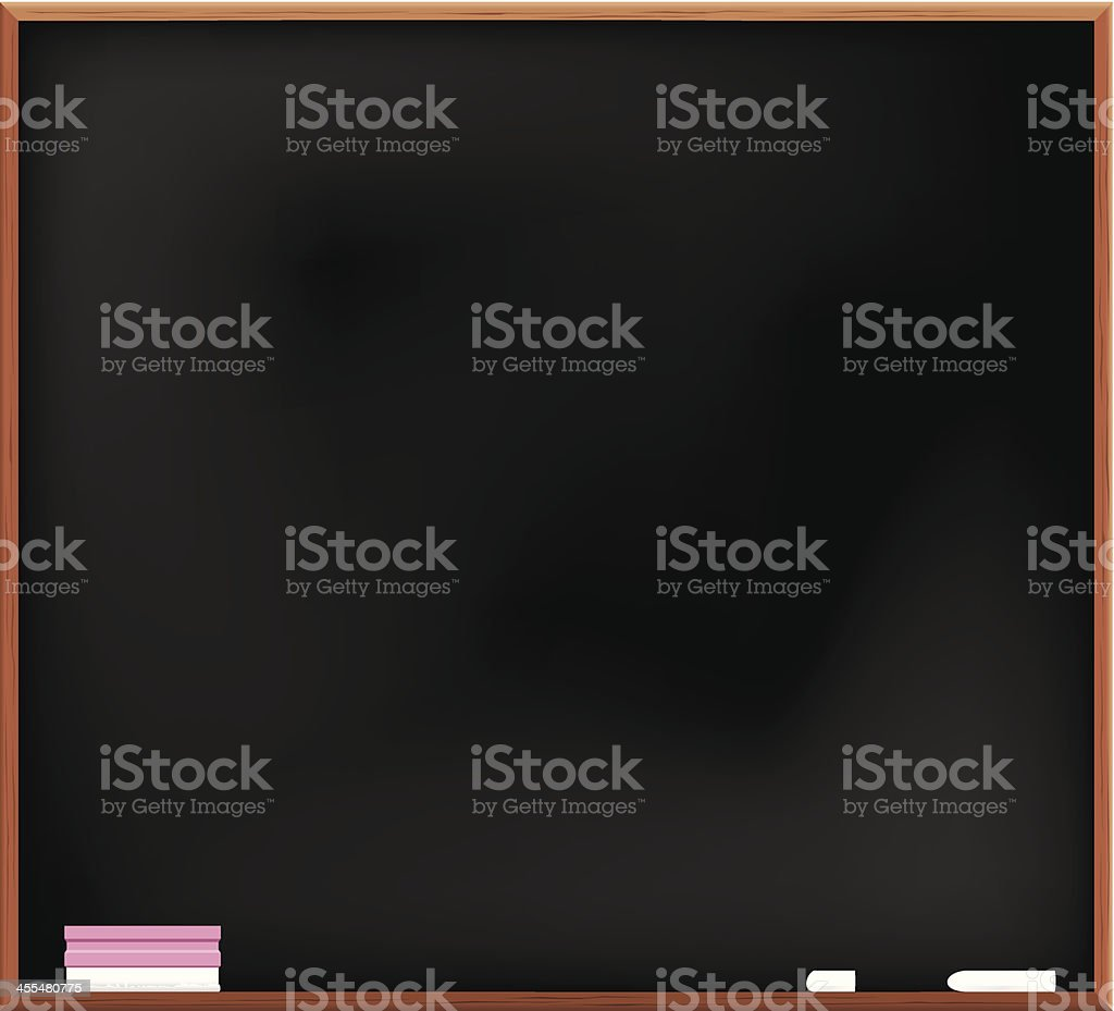 Blackboard and eraser royalty-free stock vector art