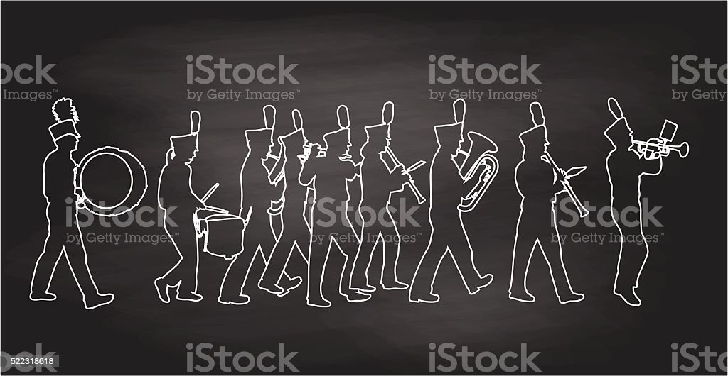 Blackboard BigBand vector art illustration