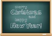 blackboard merry Christmas