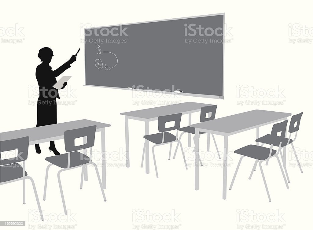 Blackboard Vector Silhouette royalty-free stock vector art