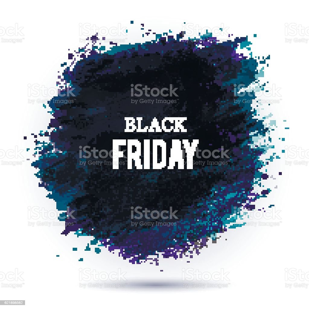 Black-friday-dark vector art illustration