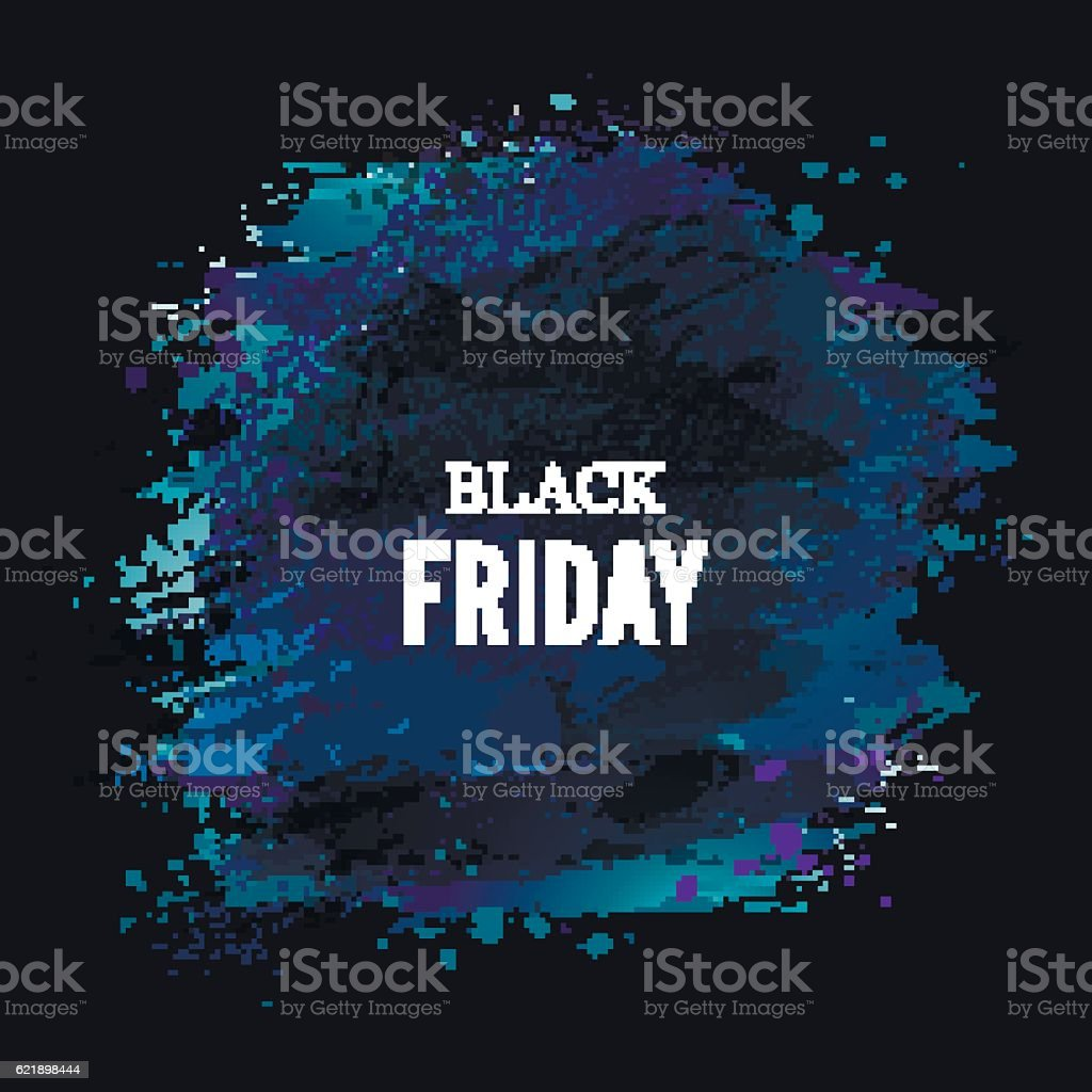 Black-friday-dark-blue vector art illustration
