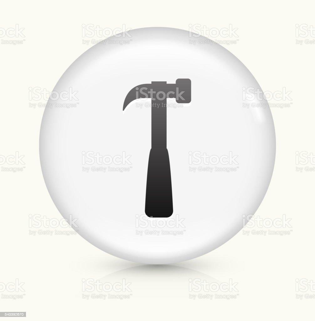 Blacksmith Hammer icon on white round vector button vector art illustration