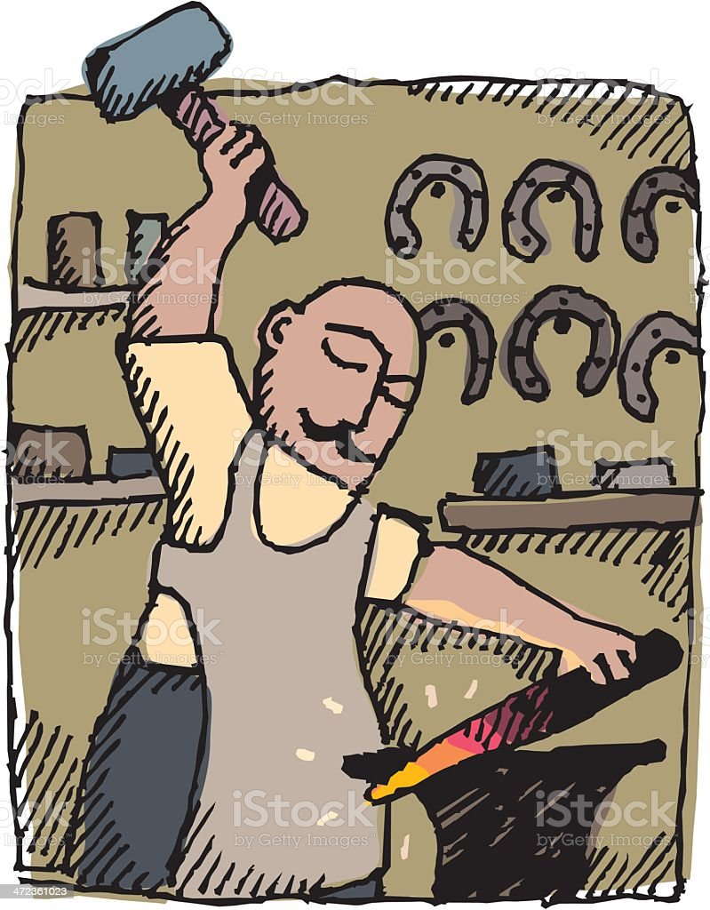 Blacksmith royalty-free stock vector art