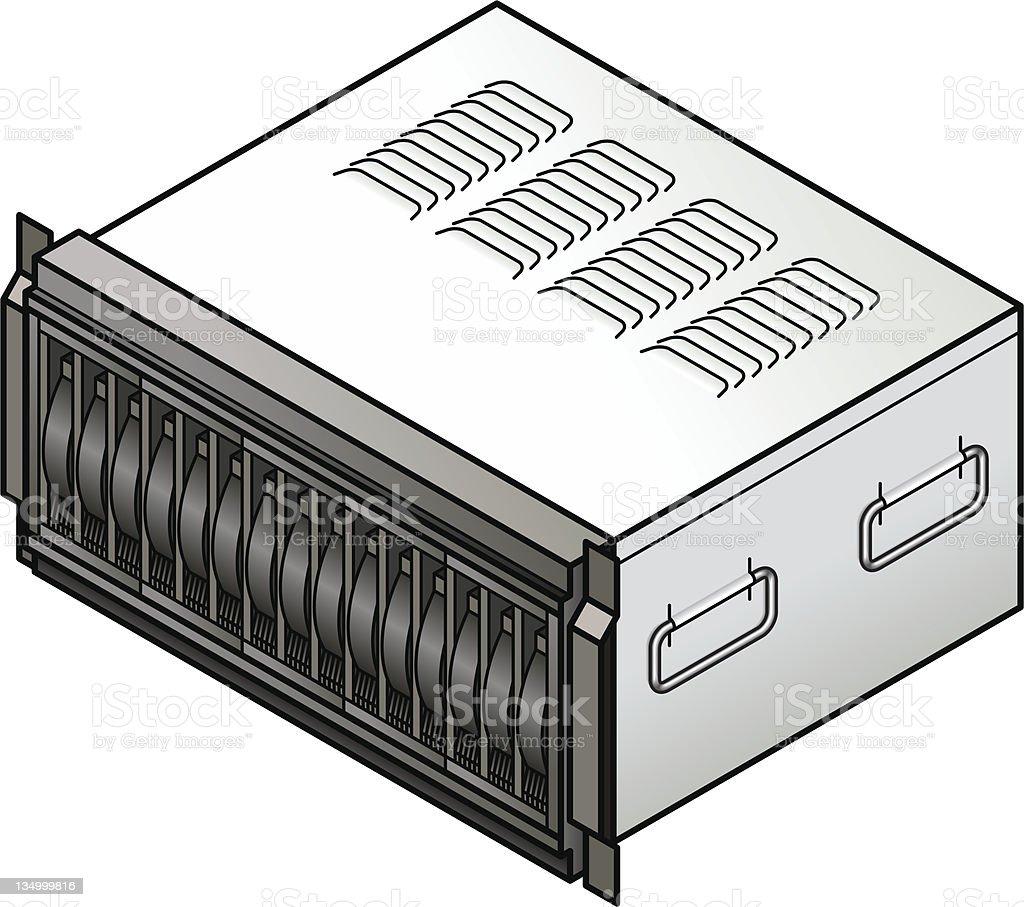 Blade Server - Storage vector art illustration