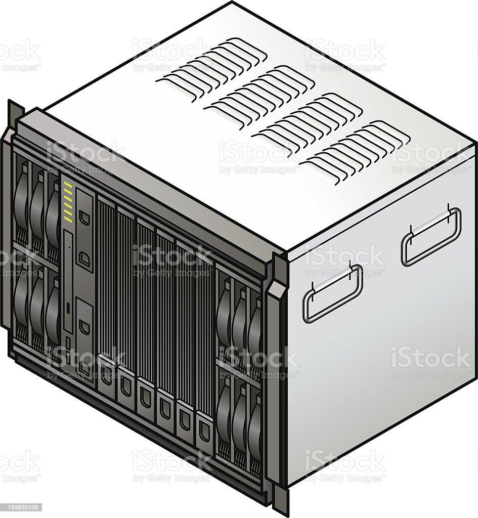 Blade Server royalty-free stock vector art