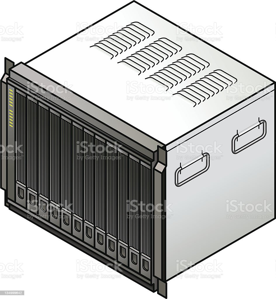 Blade Server royalty-free stock vector art