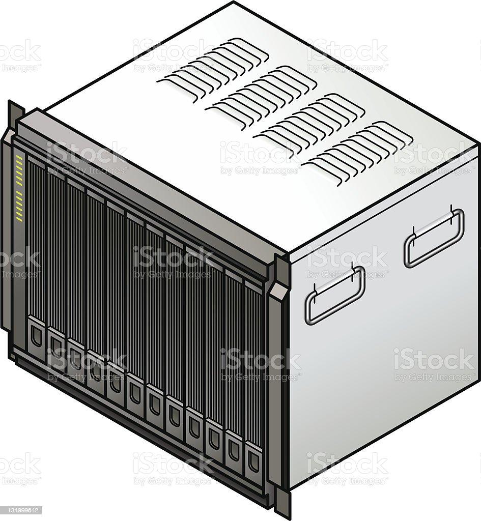 Blade Server vector art illustration
