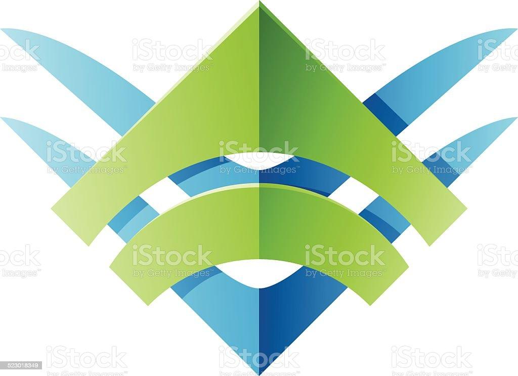 Forme abstraite icône de Lame stock vecteur libres de droits libre de droits