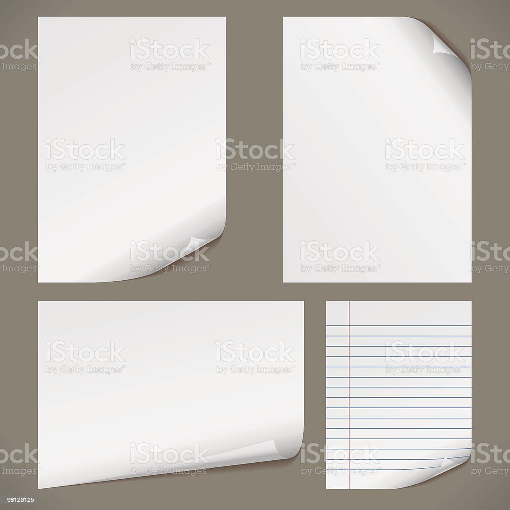 Blank A4 papers royalty-free stock vector art