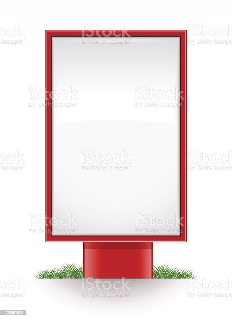 blank advertising stand citylight vector art illustration