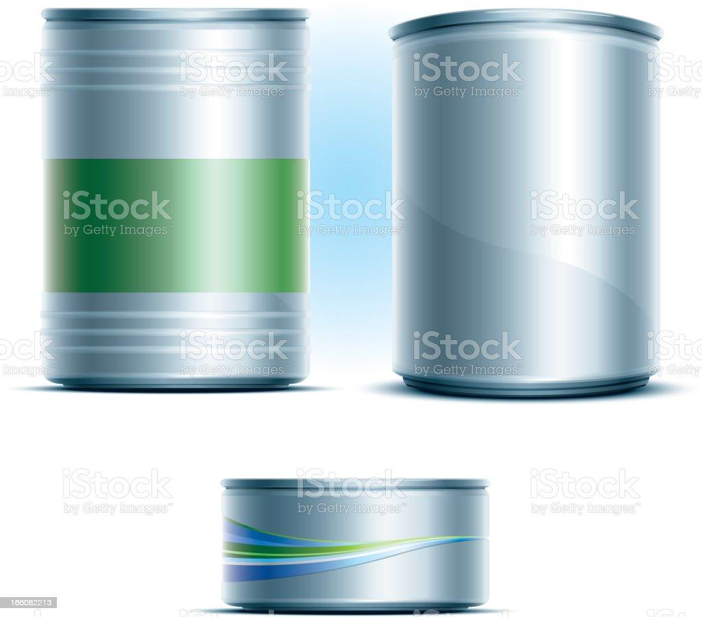 blank aluminium can vector art illustration