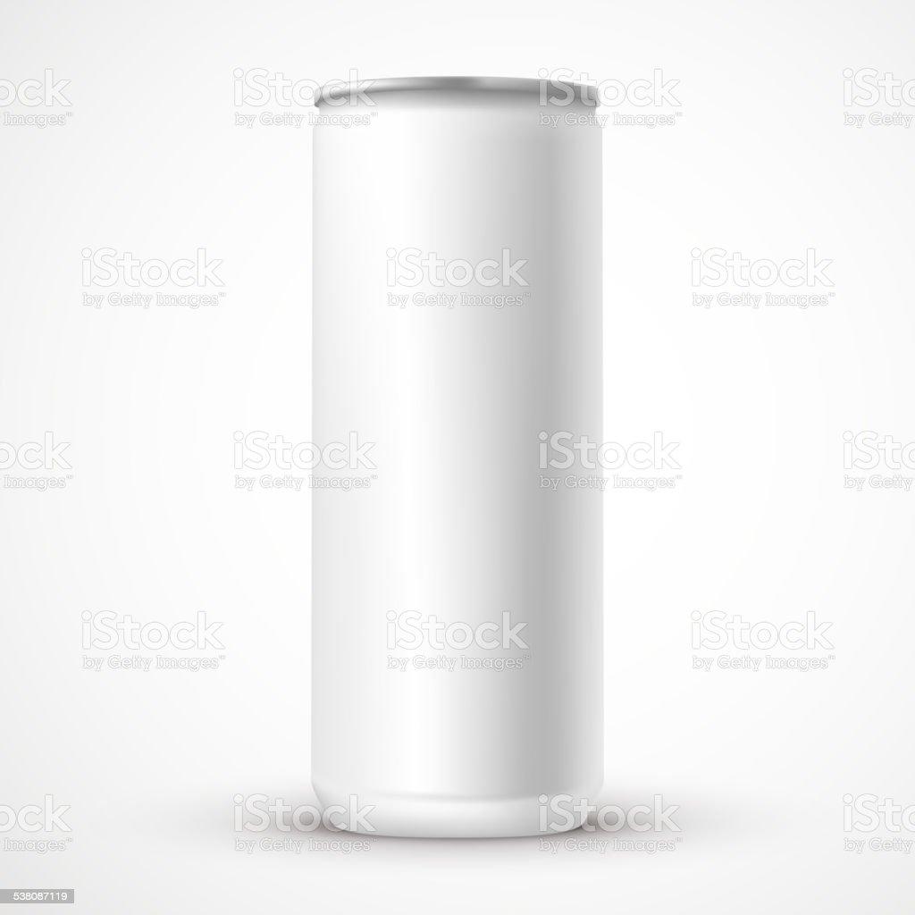 blank aluminum can template vector art illustration