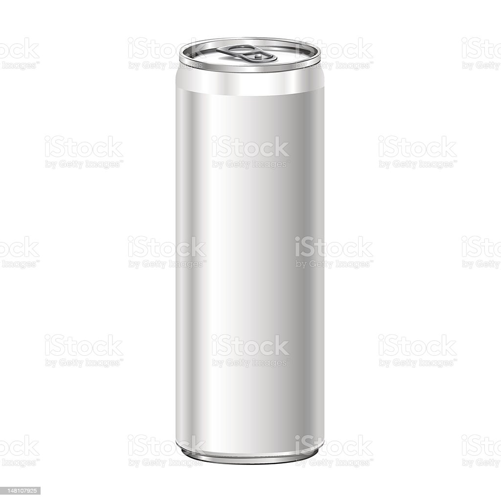 Blank aluminum soda can isolated on white background. royalty-free stock vector art