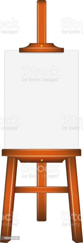 Blank art board, wooden easel royalty-free stock vector art