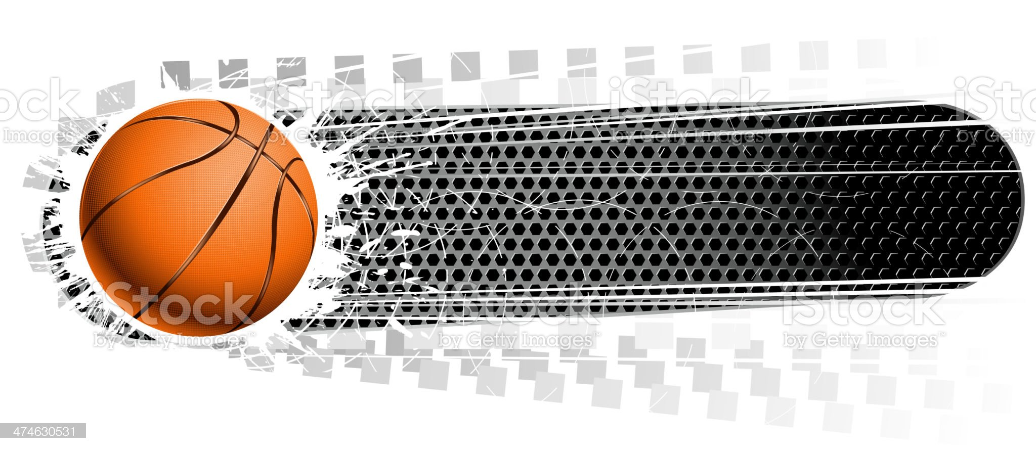 blank basketball banner royalty-free stock vector art
