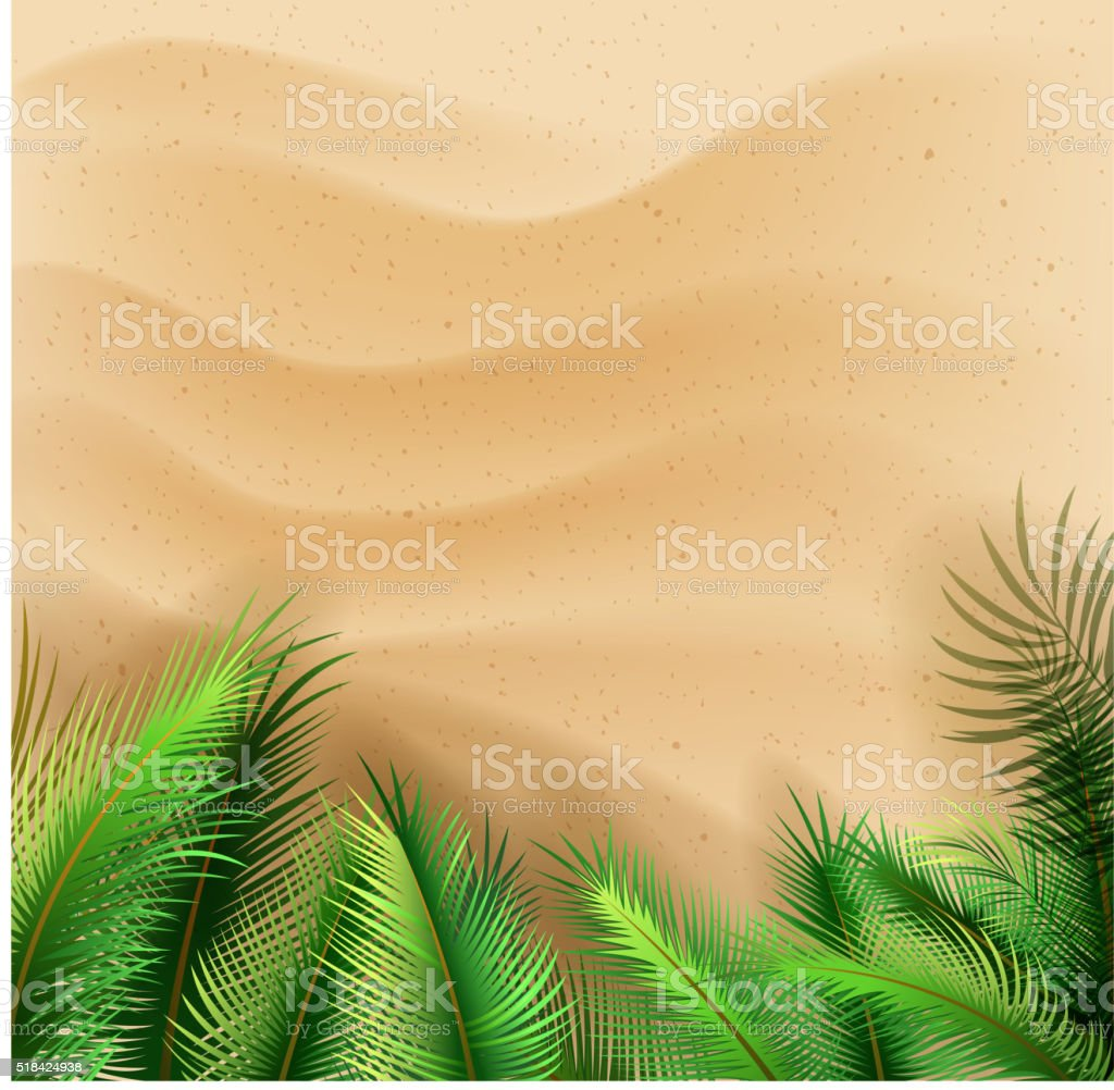 blank beach vector art illustration
