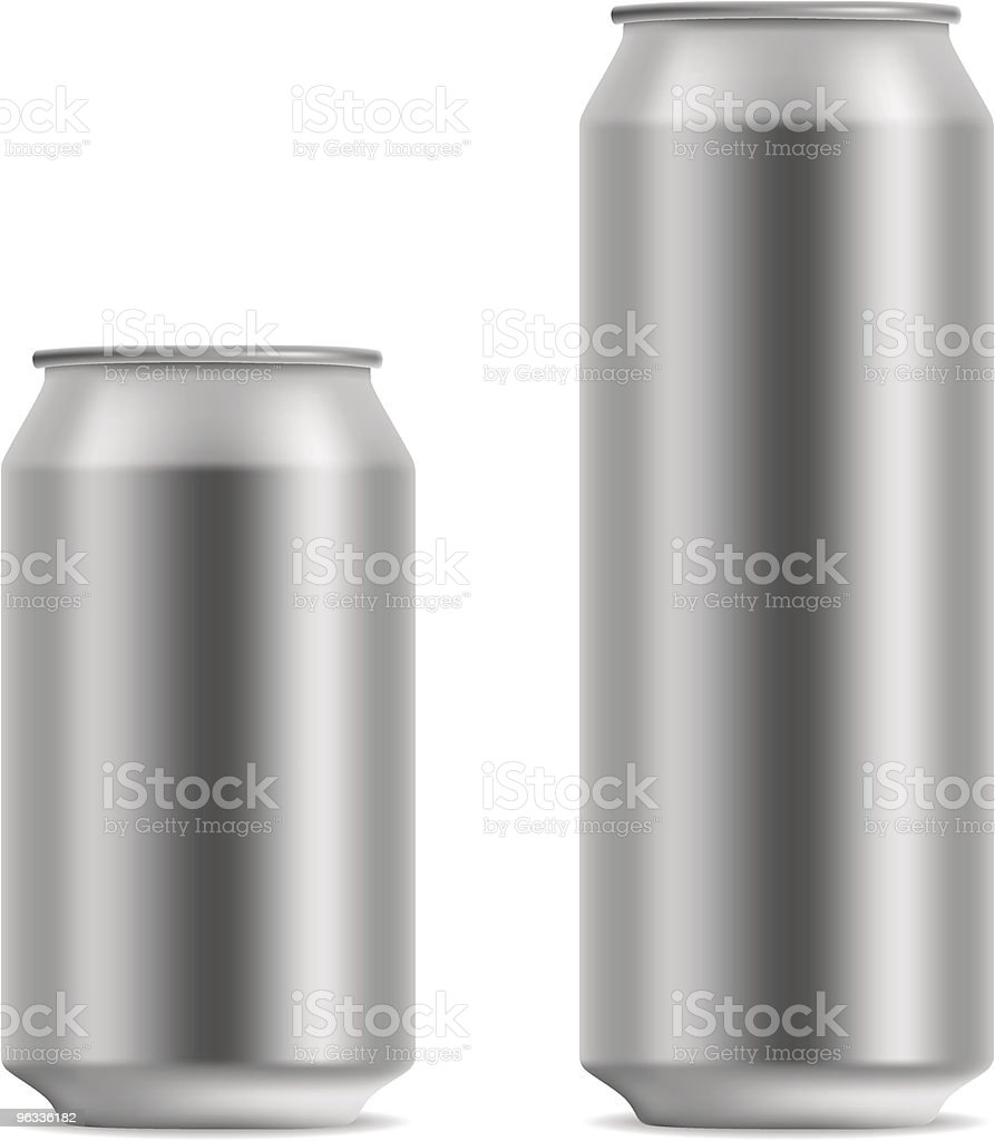 Blank beer can vector art illustration