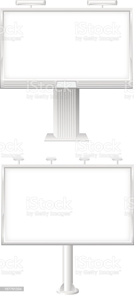 blank bilboard for advertising and announcements vector illustration royalty-free stock vector art
