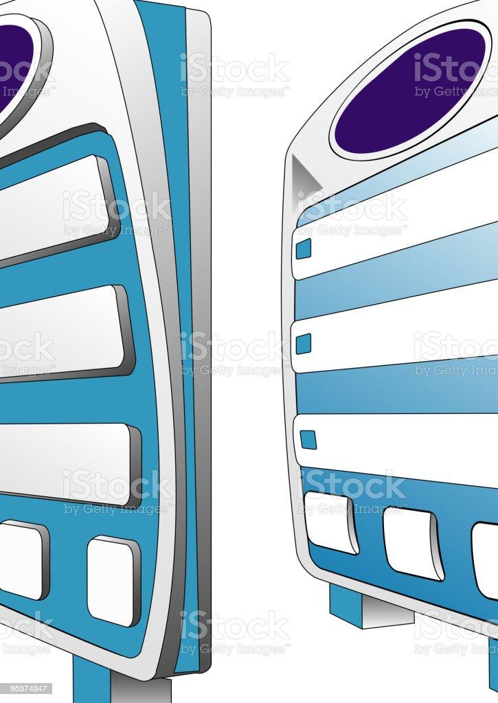 Blank billboard, vector vector art illustration