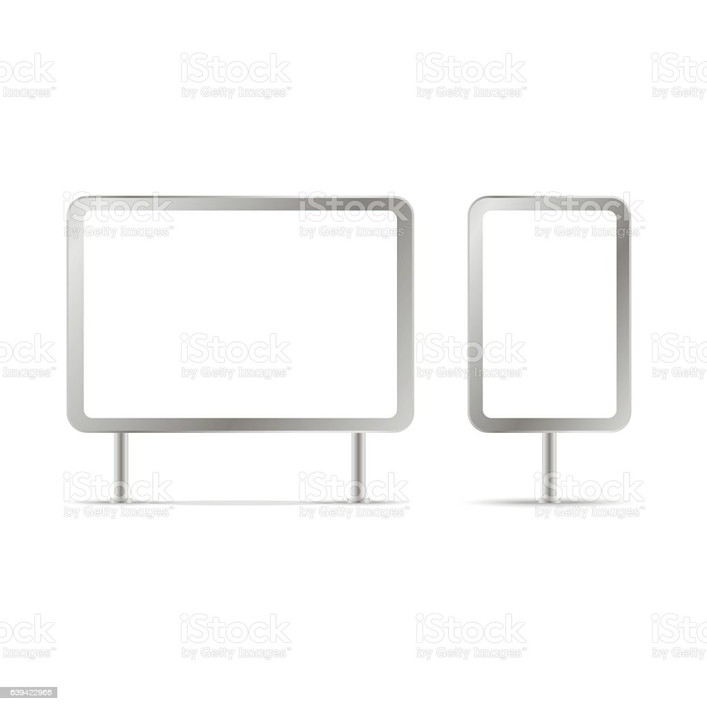 blank billboards and outdoor advertisement templates isolated blank billboards and outdoor advertisement templates isolated vector illustration royalty stock vector art