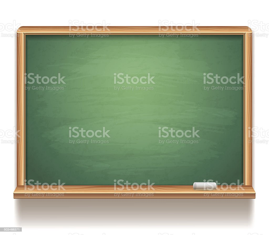 Blank blackboard. vector art illustration
