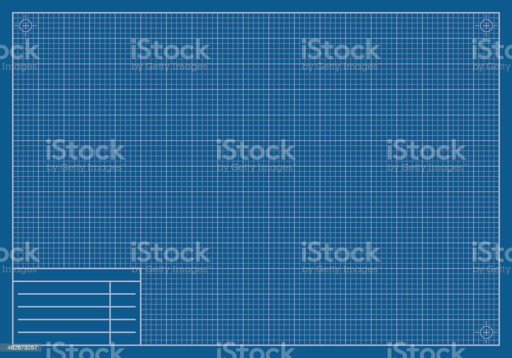 Blank Blueprint Paper vector art illustration