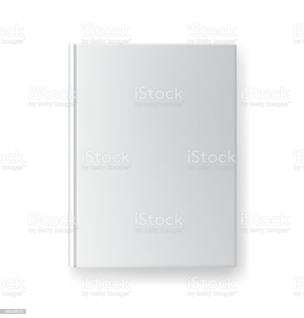 blank book cover template vector art illustration