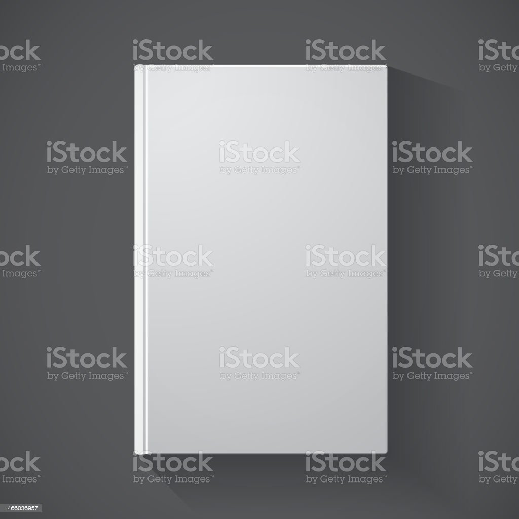 Blank book cover vector art illustration