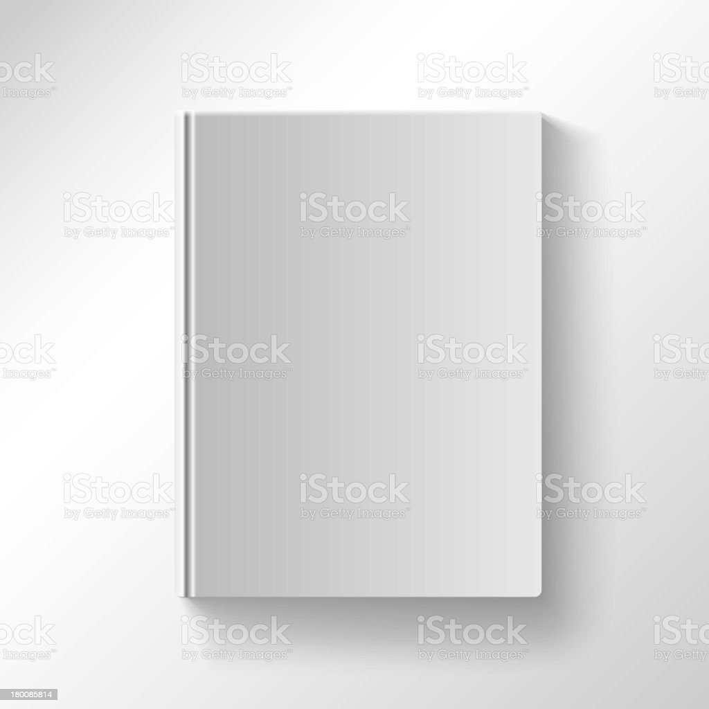 Blank book cover vector illustration royalty-free stock vector art