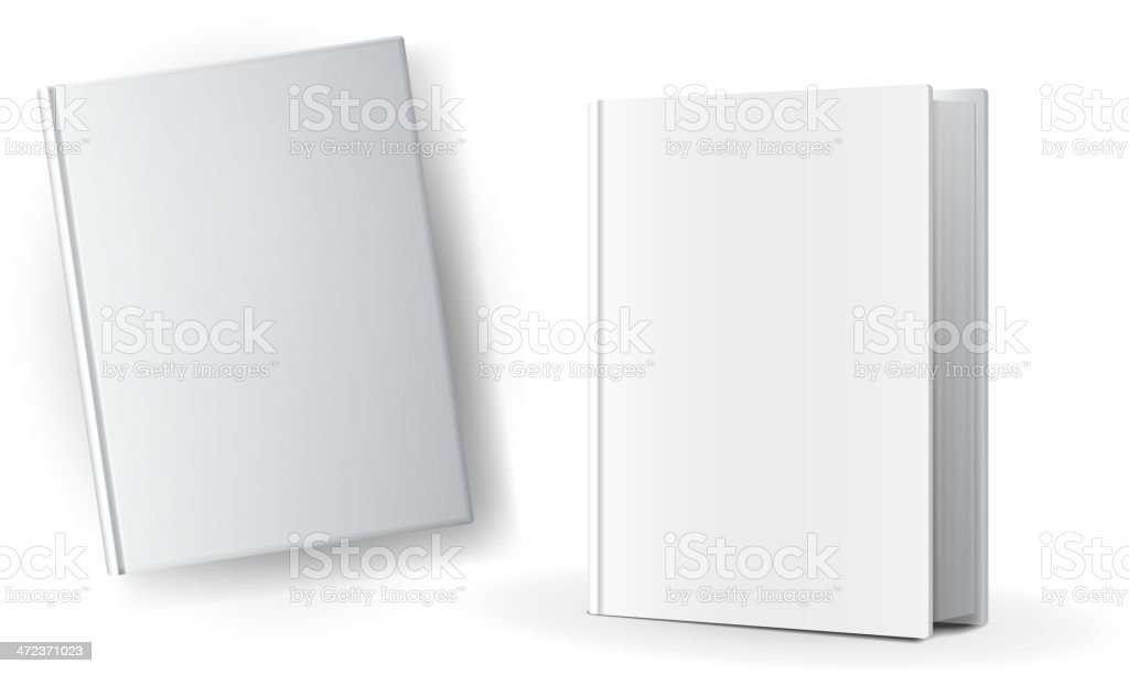 Blank book covers vector art illustration