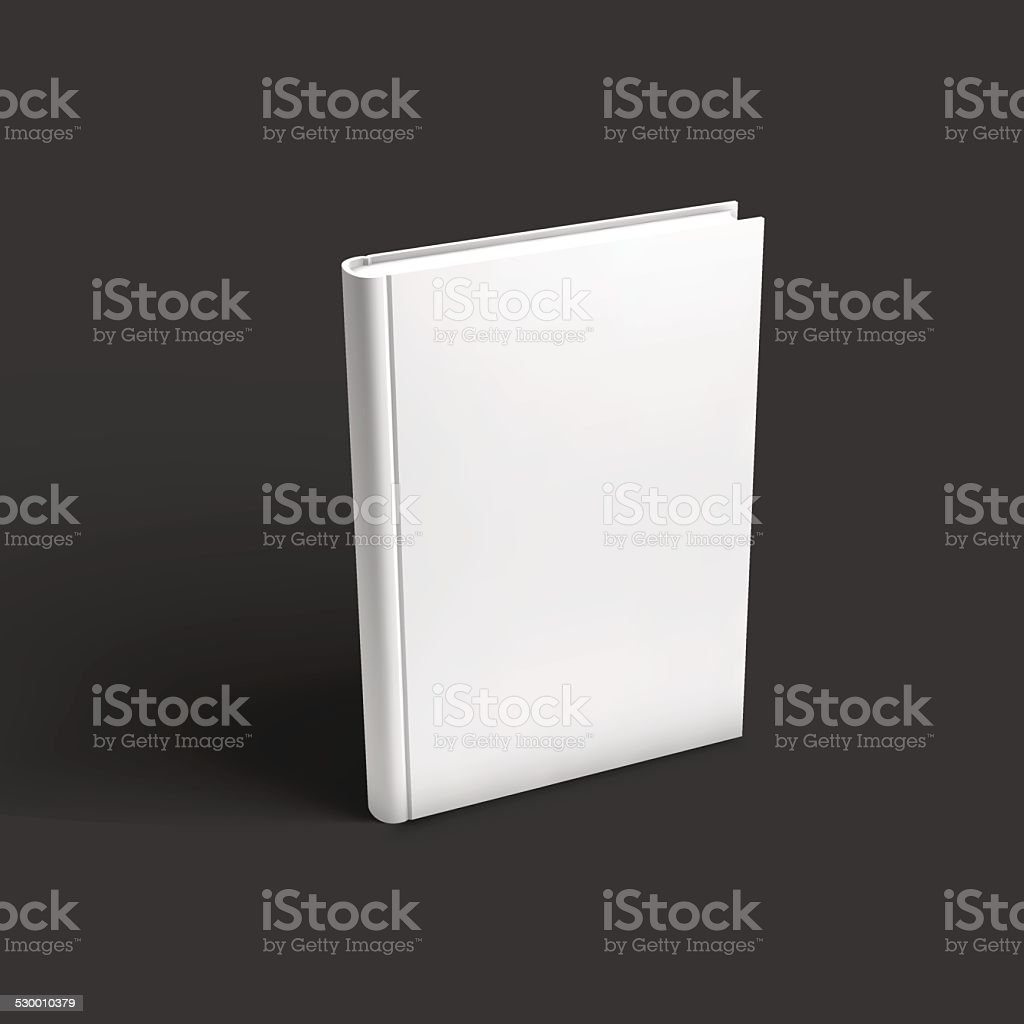 Blank book, textbook, booklet or notebook mockup. vector art illustration