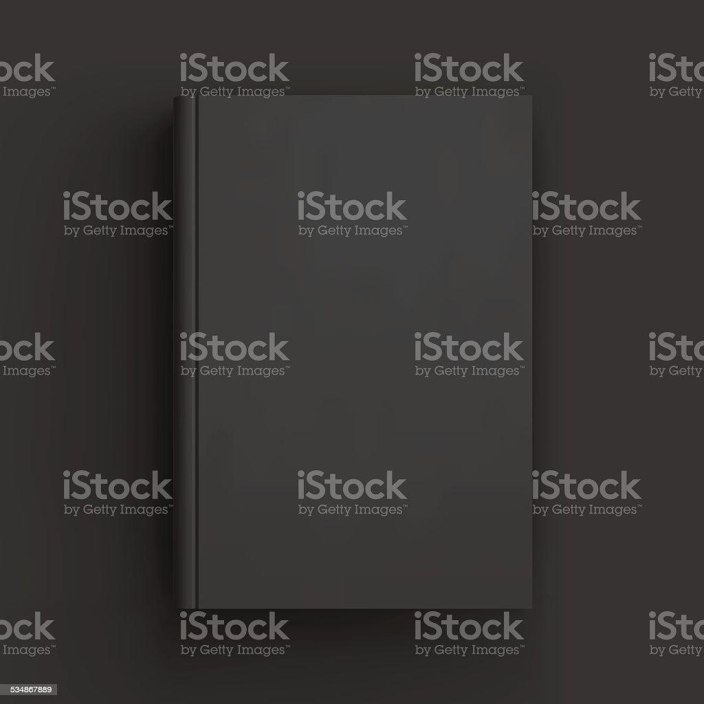 Blank book, textbook, booklet or notebook mockup vector art illustration