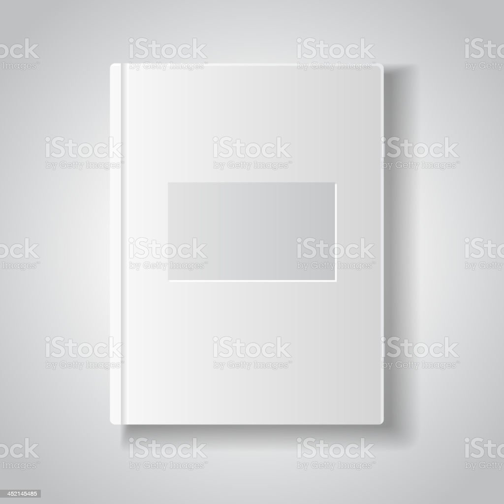 Blank book with white cover. royalty-free stock vector art