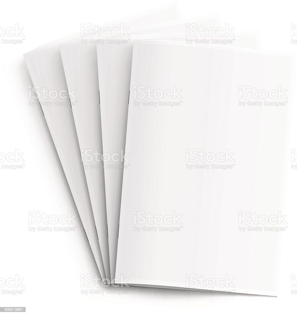 Blank Booklets vector art illustration