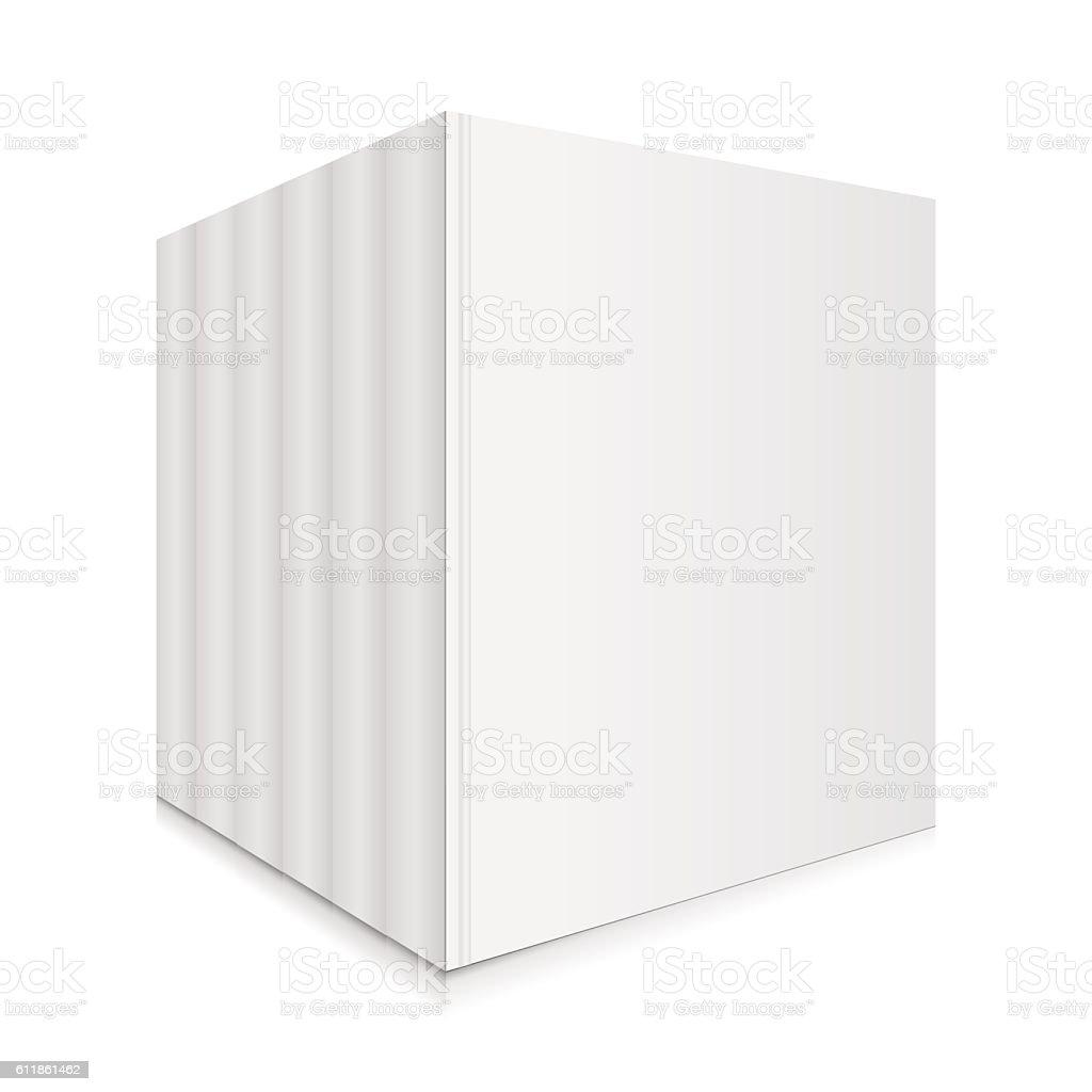 Blank Books Set Vector Illustration. vector art illustration