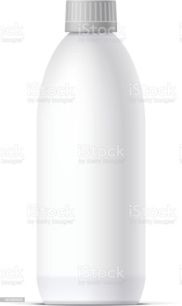 Blank bottle Realistic on white background vector vector art illustration