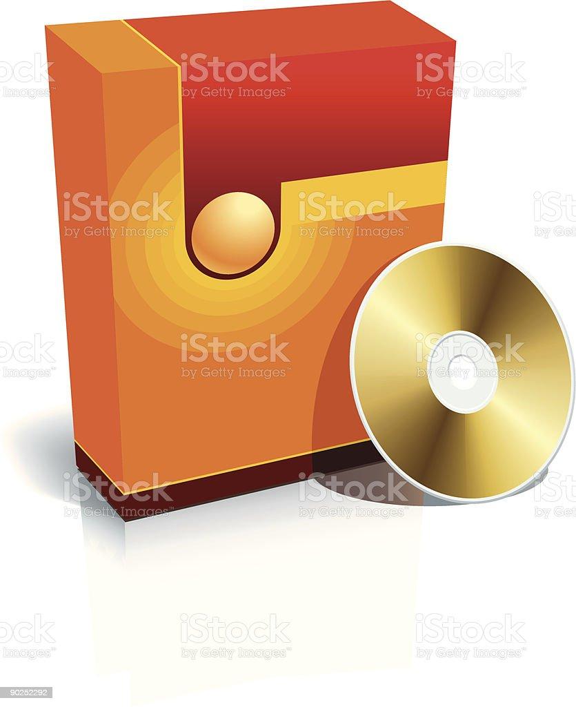 Blank box and CD royalty-free stock vector art