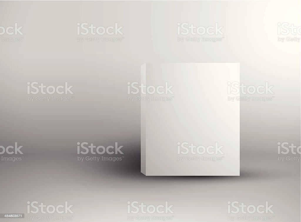 Blank box vector art illustration