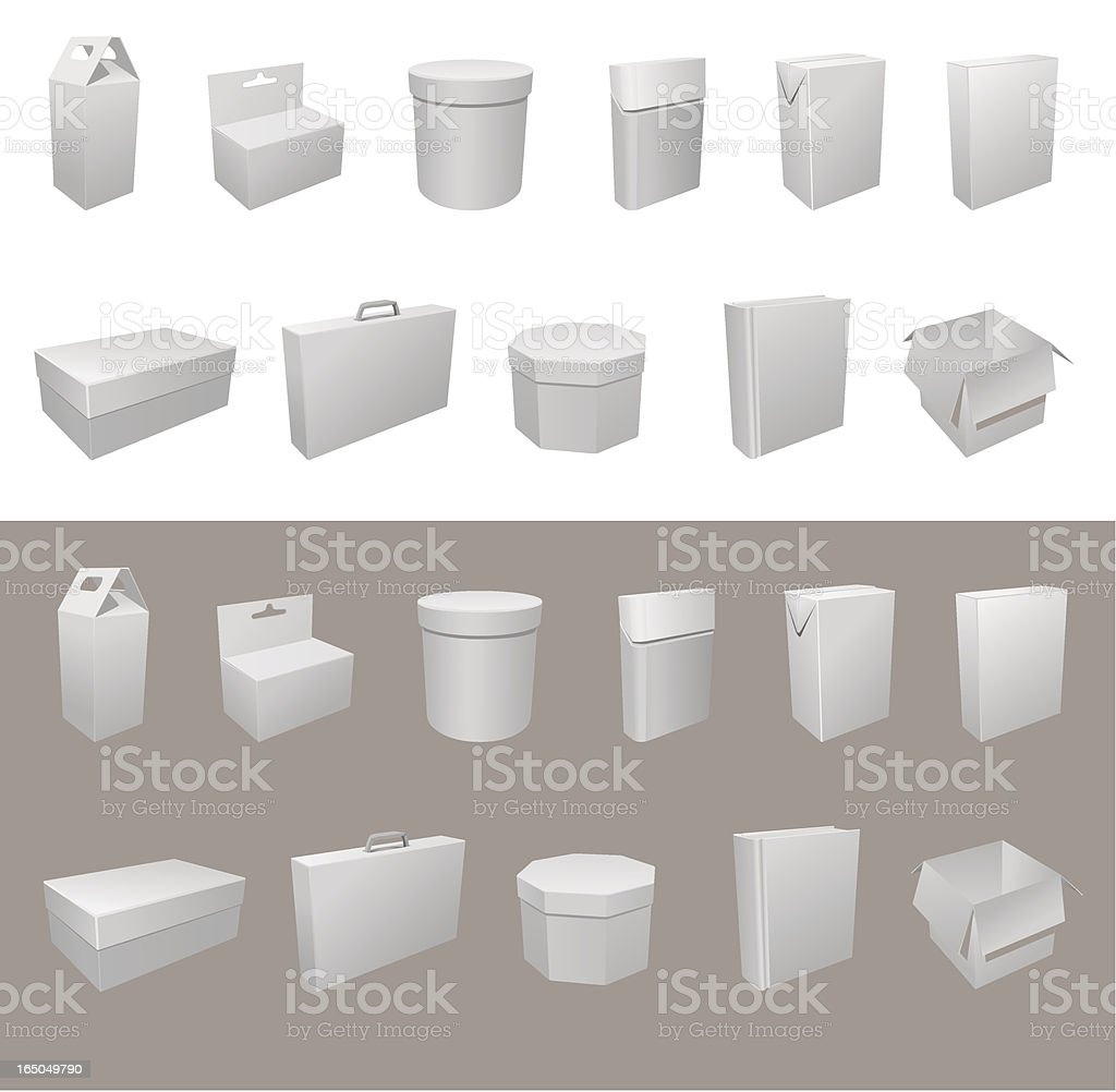 Blank boxes. Box package royalty-free stock vector art