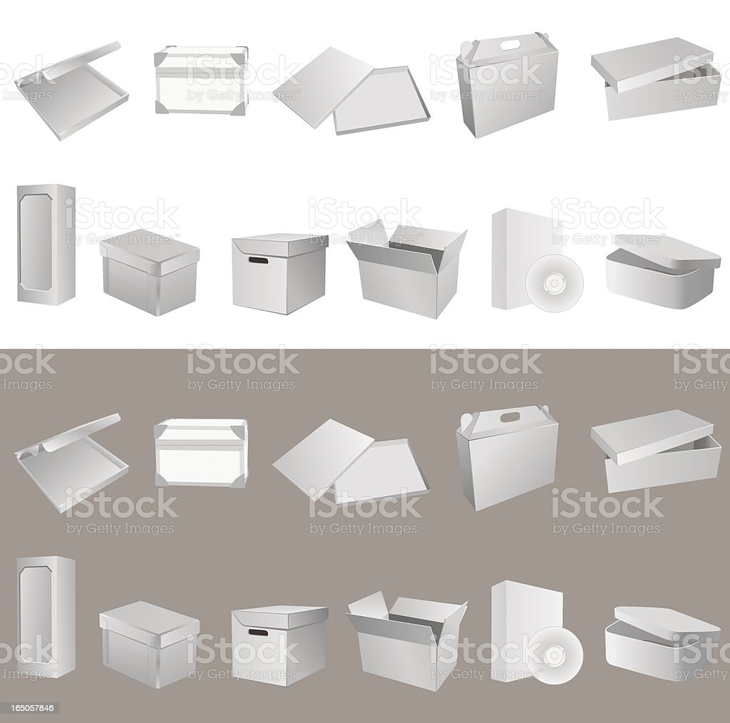Blank boxes. Part 2 royalty-free stock vector art