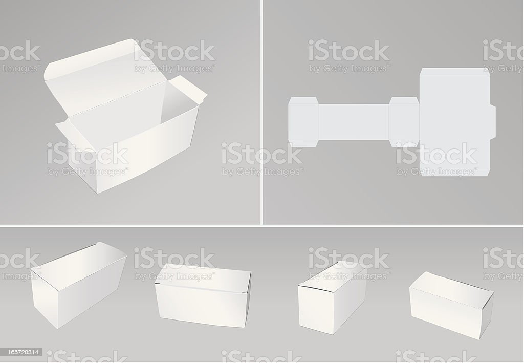 Blank boxes royalty-free stock vector art