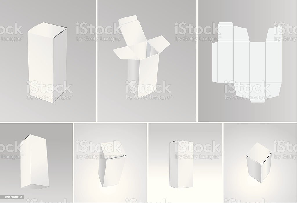 Blank boxes vector art illustration