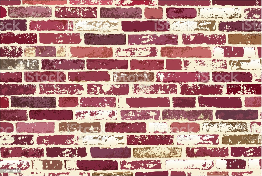blank brick wall royalty-free stock vector art
