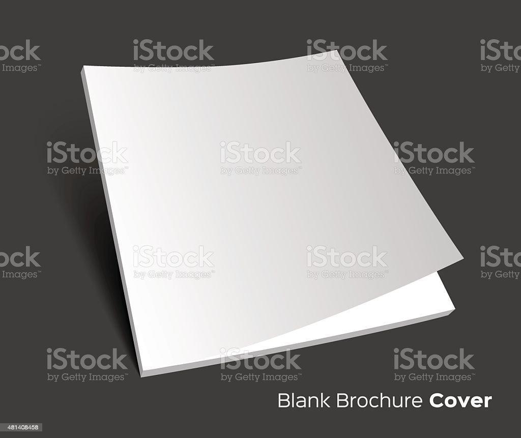 Blank brochure cover on dark vector art illustration