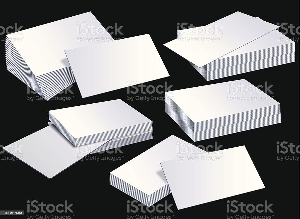 Blank Business card template vector art illustration